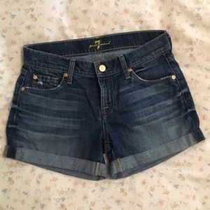 7 for all mankind shorts size 25